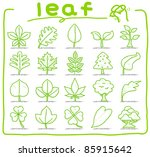 pure series   hand drawn leaf ... | Shutterstock .eps vector #85915642