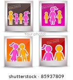 colorful family photo | Shutterstock .eps vector #85937809