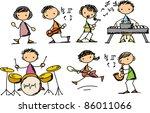 music doodles | Shutterstock .eps vector #86011066