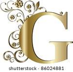 capital letter g gold | Shutterstock .eps vector #86024881
