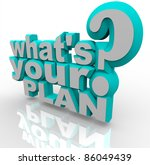 the 3d words what's your plan... | Shutterstock . vector #86049439