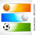 set of sport banners | Shutterstock . vector #86113435