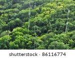 rain in tropical forest  amazon ... | Shutterstock . vector #86116774