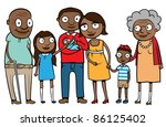 big cartoon black or ethnic... | Shutterstock .eps vector #86125402