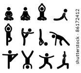 yoga meditation exercise... | Shutterstock .eps vector #86172412