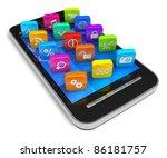 touchscreen smartphone with... | Shutterstock . vector #86181757