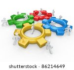a team of illustrated people... | Shutterstock . vector #86214649
