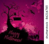 Halloween Grunge Vector...