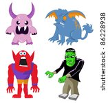 monster and character set | Shutterstock .eps vector #86228938