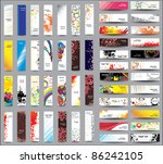 mix collection vertical and... | Shutterstock .eps vector #86242105
