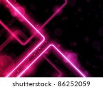 Vector - Red  Lines Background Neon Laser - stock vector