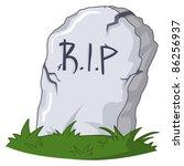 tombstone | Shutterstock .eps vector #86256937