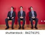 three confident businessman...   Shutterstock . vector #86276191