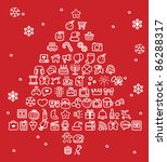 hand drawn holidays xmas icon... | Shutterstock .eps vector #86288317