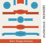 retro design elements | Shutterstock .eps vector #86346085