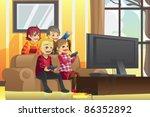 a vector illustration of kids... | Shutterstock .eps vector #86352892