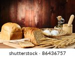 Bread And Wheat On The Old...