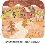 gingerbread world | Shutterstock .eps vector #86478820