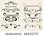set of vintage frames | Shutterstock .eps vector #86512279