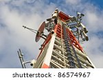 a communications tower for tv... | Shutterstock . vector #86574967