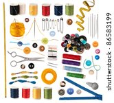 sewing accessories isolated on... | Shutterstock . vector #86583199