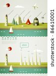 infographics elements with a... | Shutterstock .eps vector #86610001