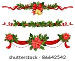 christmas festive decoration... | Shutterstock . vector #86642542