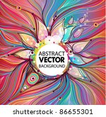 vector abstract background | Shutterstock .eps vector #86655301