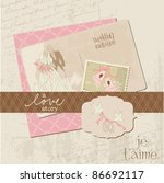 vintage wedding design elements ... | Shutterstock .eps vector #86692117