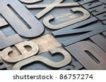 letterpress background   Shutterstock . vector #86757274