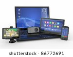 electronics. laptop  mobile... | Shutterstock . vector #86772691