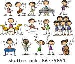 music doodles | Shutterstock .eps vector #86779891