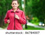 beautiful teenage girl running... | Shutterstock . vector #86784007