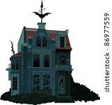 illustration of a spooky... | Shutterstock .eps vector #86977559