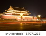 Night Scene Of Tiananmen Gate...