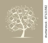 family tree design  insert your ... | Shutterstock .eps vector #87121582