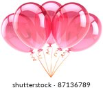 Party Balloons Pink Five 5...