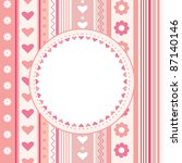 decorative card with hearts ... | Shutterstock .eps vector #87140146