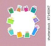 cute christmas gift background | Shutterstock .eps vector #87140347