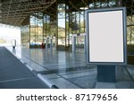 modern empty advertising... | Shutterstock . vector #87179656