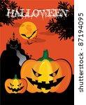 october 31 halloween is a... | Shutterstock .eps vector #87194095