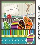 happy easter. vector card. | Shutterstock .eps vector #87230506