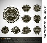 premium quality labels with... | Shutterstock .eps vector #87230911