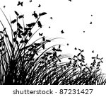 vector grass silhouettes...   Shutterstock .eps vector #87231427