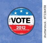 vote 2012 usa badge   worn... | Shutterstock .eps vector #87236458
