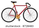 red  black and gold bicycle ... | Shutterstock . vector #8728483