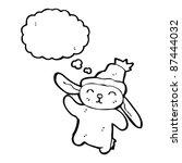 bunny in hat waving | Shutterstock .eps vector #87444032