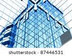 mirrored pane with... | Shutterstock . vector #87446531