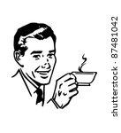 Man With Coffee   Retro Clipar...