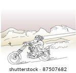 custom bike ride free in desert highway